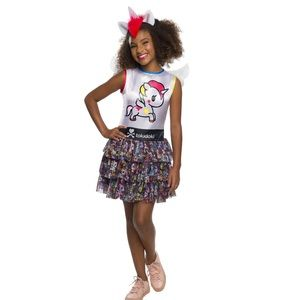 Girls Stellina Unicorn Tokidoki Child Costume 8-10